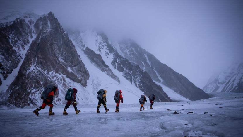 Nepalczycy podczas zimowego wejścia na K2, styczeń 2021 r.