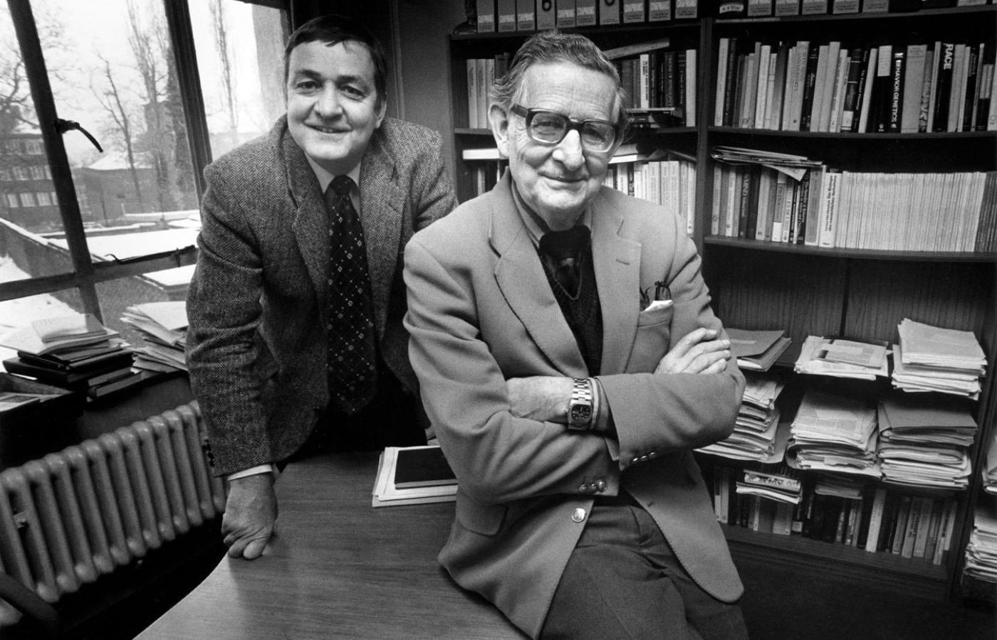Hans Jürgen Eysenck z synem, Michaelem Williamem.