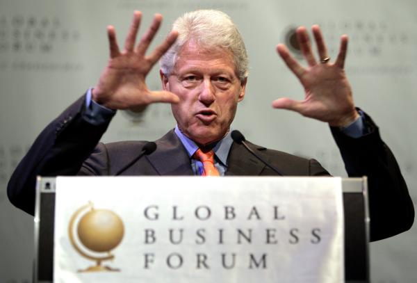 Bill Clinton przemawia na Global Business Forum w Sydney, 2006 r.