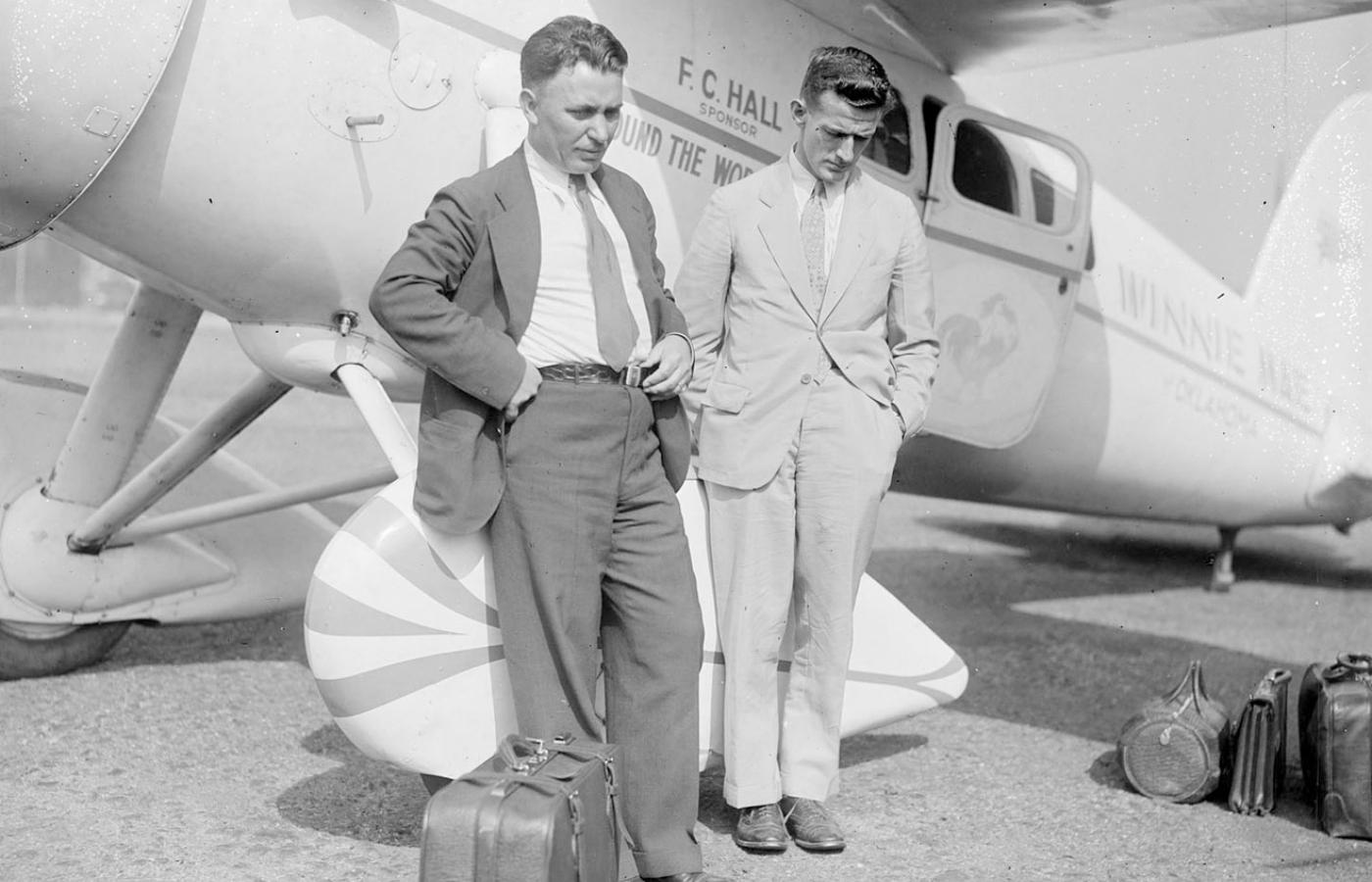 Wiley Post, Harold Gatty i Lockheed Vega, Boston, 1931 r.