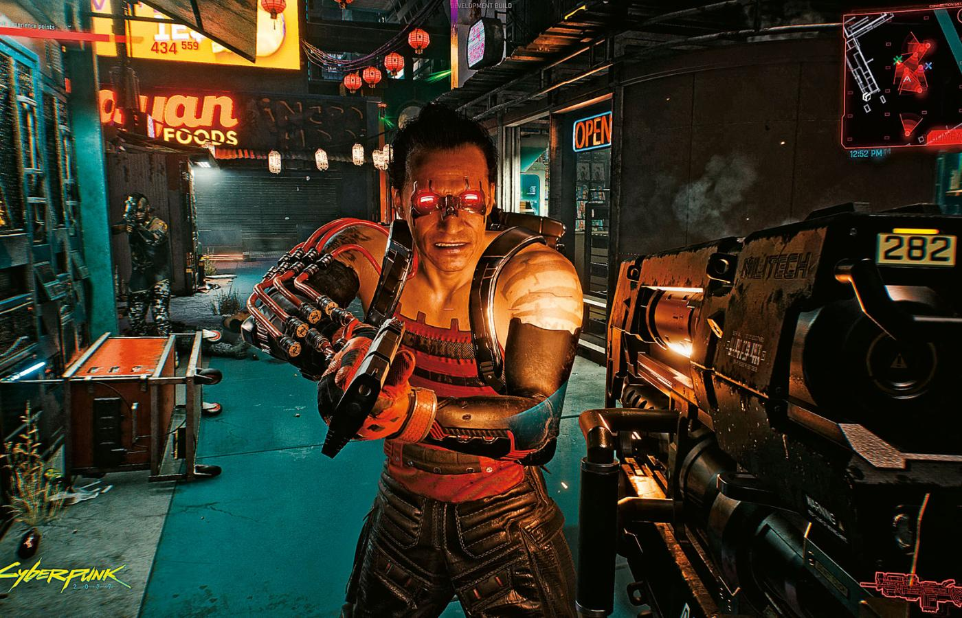 "Screen z gry ""Cyberpunk 2077""."