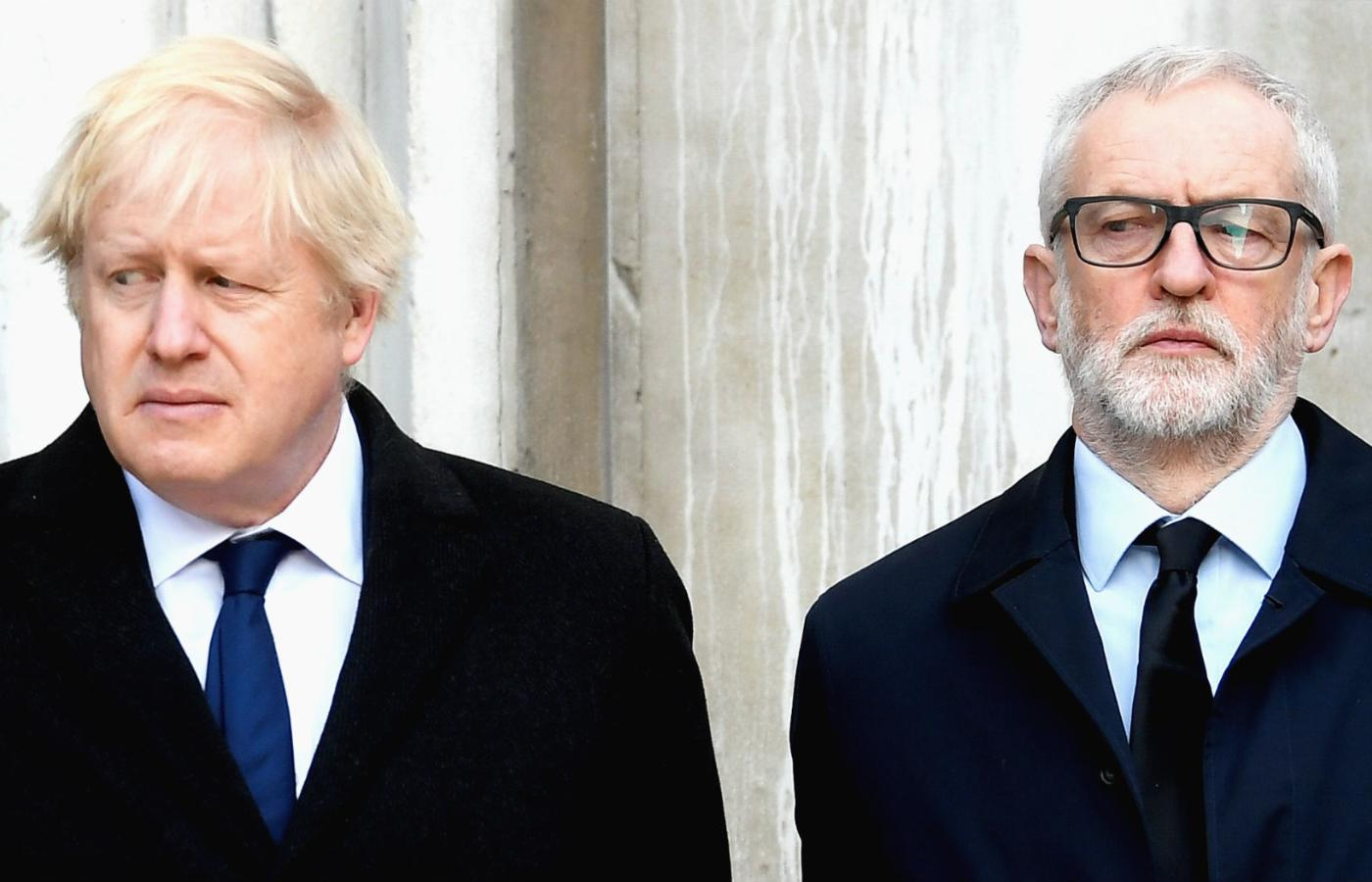 Od lewej: Boris Johnson i Jeremy Corbyn