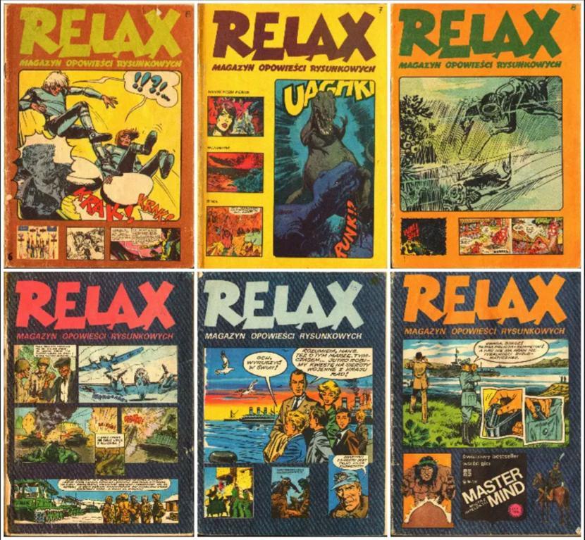 """Okładki magazynu """"Relax"""""""