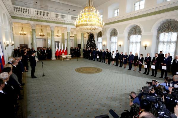 Rekonstrukcja rządu Mateusza Morawieckiego w Pałacu Prezydenckim