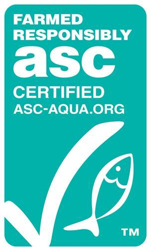 Logo certyfikatu ASC (Aquaculture Stewardship Council)