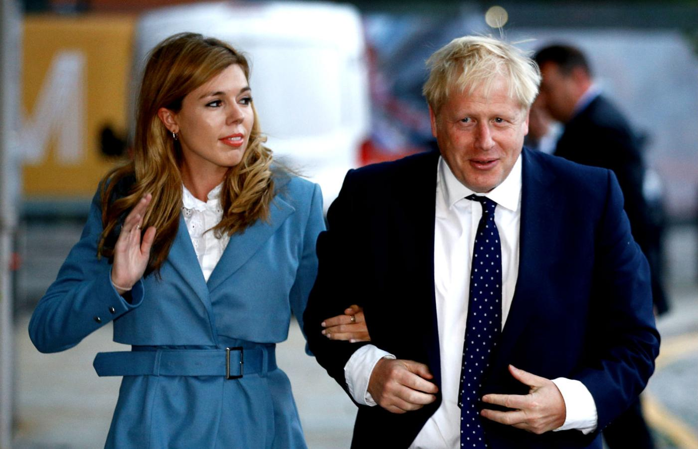Boris Johnson z partnerką Carrie Symonds