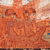 Córki Echnatona i Nefertiti, malowidło ścienne odnalezione w rezydencji (prawdopodobnie) wezyra w Achetaton (Amarnie).
