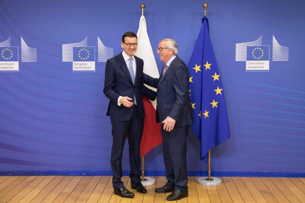 Brukselskie rozmowy premiera Morawieckiego z szefem Komisji Europejskiej
