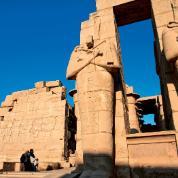 Teby, pozostałości Ramesseum, świątyni Ramzesa II.