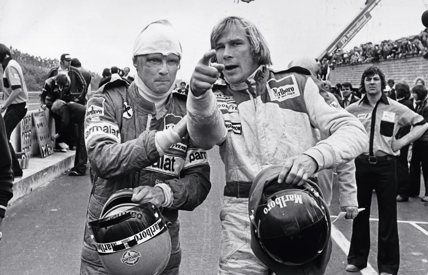 Niki Lauda i James Hunt w 1976 r.