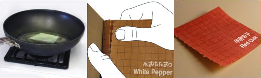 Książka do gotowania? Nick Bampton stworzył dziełko, którego strony zrobione zostały z jadalnego papieru. Na poszczególnych kartkach umieszczono przyprawy. W razie potrzeby należy po prostu wyrwać stronę i wrzucić ją do garnka.