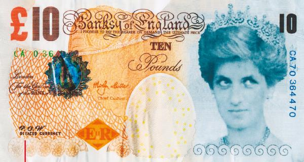 Banksy, Di-Faced Tenner, 2004 r.