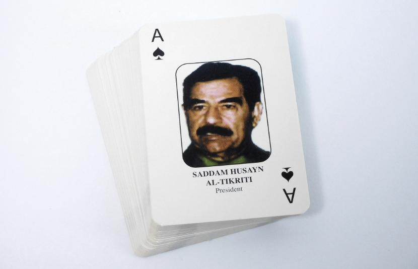 """Most-wanted Iraqi playing cards"""