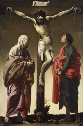 Oryginał: The Crucifixion with the Virgin and Saint John (1624–25, Hendrick ter Brugghen)