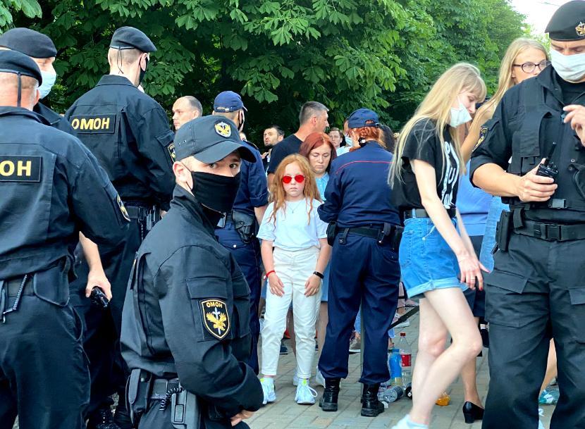 Wiec poparcia dla Swiatłany Cichanouskiej, 6 sierpnia 2020 r.