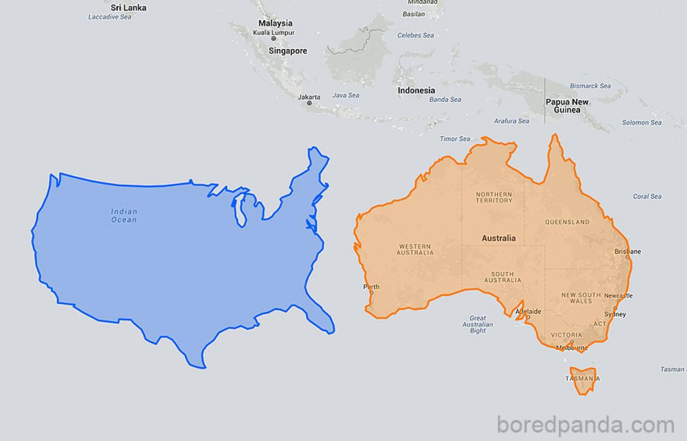 24 Mapy Które Pokazują Jak Naprawdę Duże Lub Małe Są Państwa